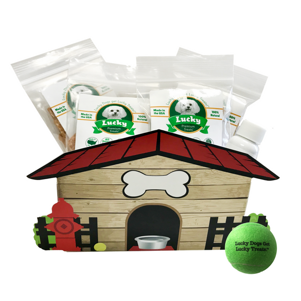 Lucky Premium Treats Gift Basket - Dog House of Small Treats