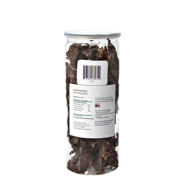 Beef Jerky Dog Treats, 5 oz. Jar