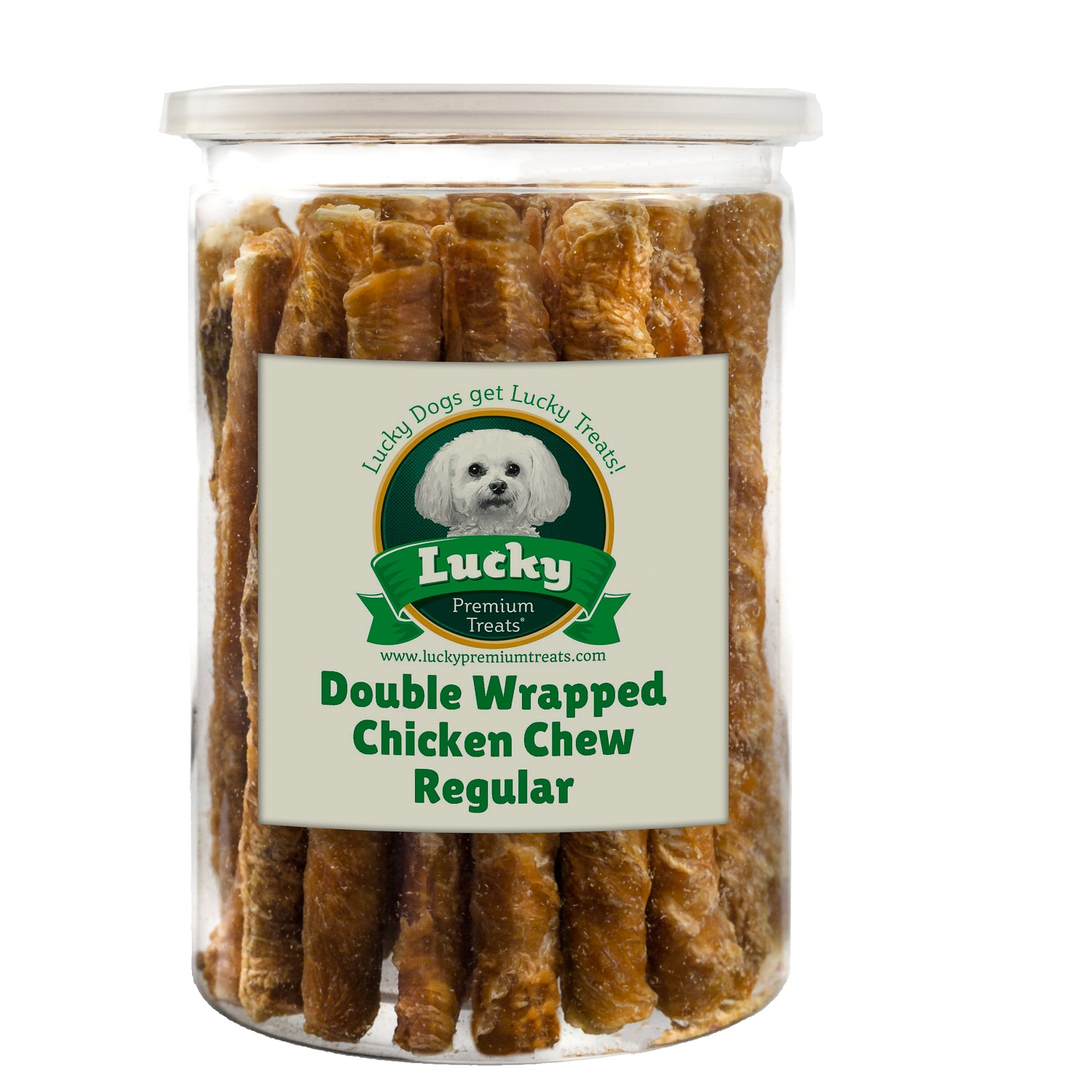 Double Chicken Wrapped Regular Chews 35 Count