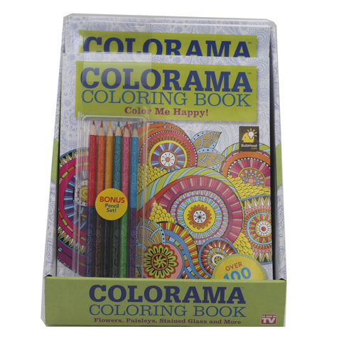 Colorama Coloring Book Color Me Happy Comes In A 6 Pc PDQ Display