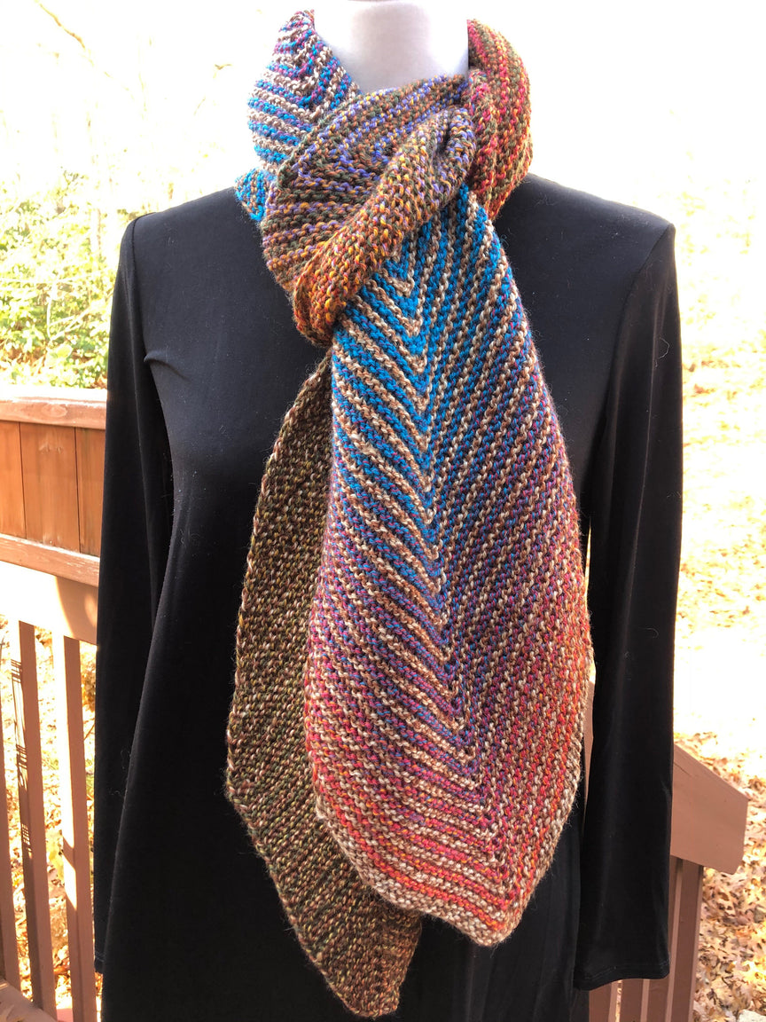 Painted Sky Herringbone Scarf