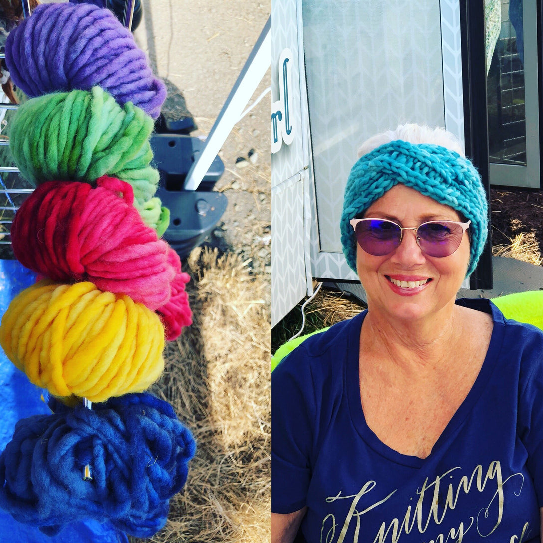 Twisted Head Wrap Kit with Ella Rae Lush Merino Chunky