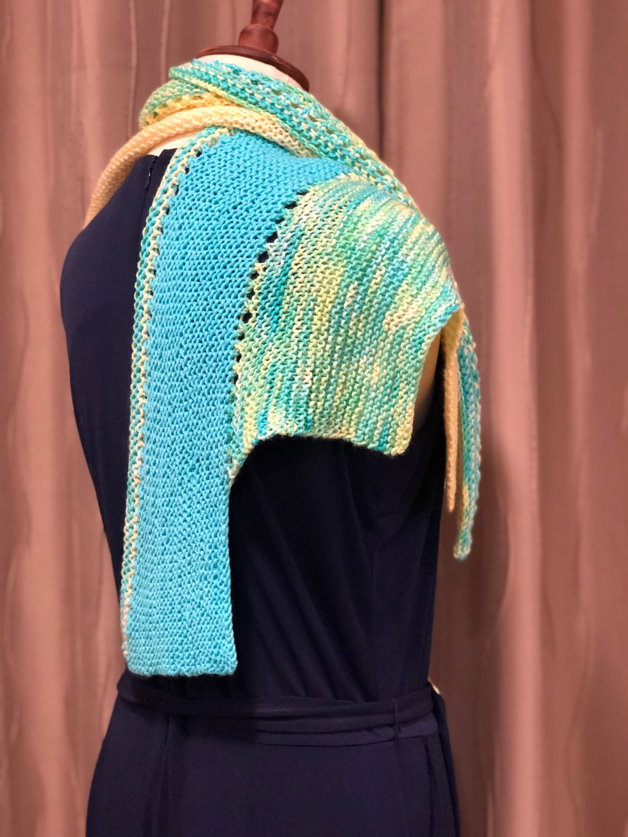 Tiered Triangles Shawl Kit