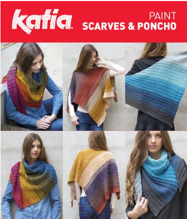 Katia Paint Gradient Shawl