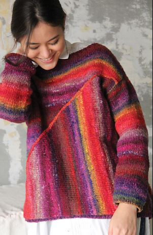 Asymmetrical Pullover Kit with Noro Ito