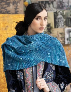 Simple Cabled Shawl Kit