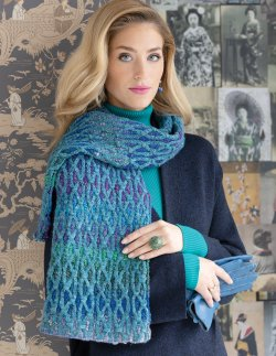 Two-Color Cabled Scarf Kit