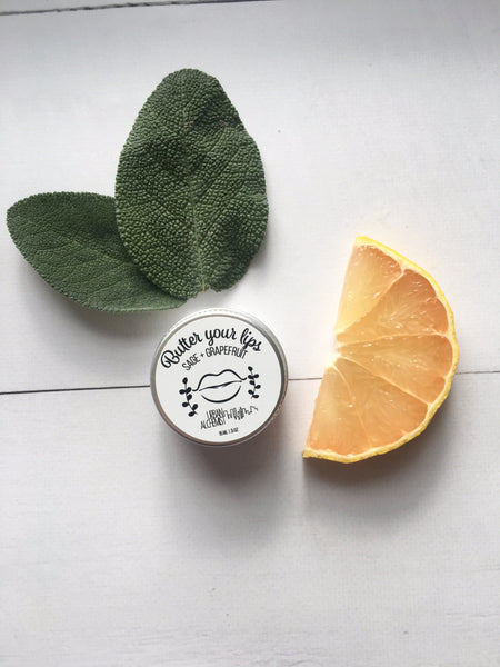 Butter your lips! (Sage + Grapefruit)