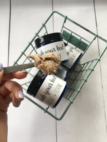 Scrub your bod! (Cacao + Cookie)