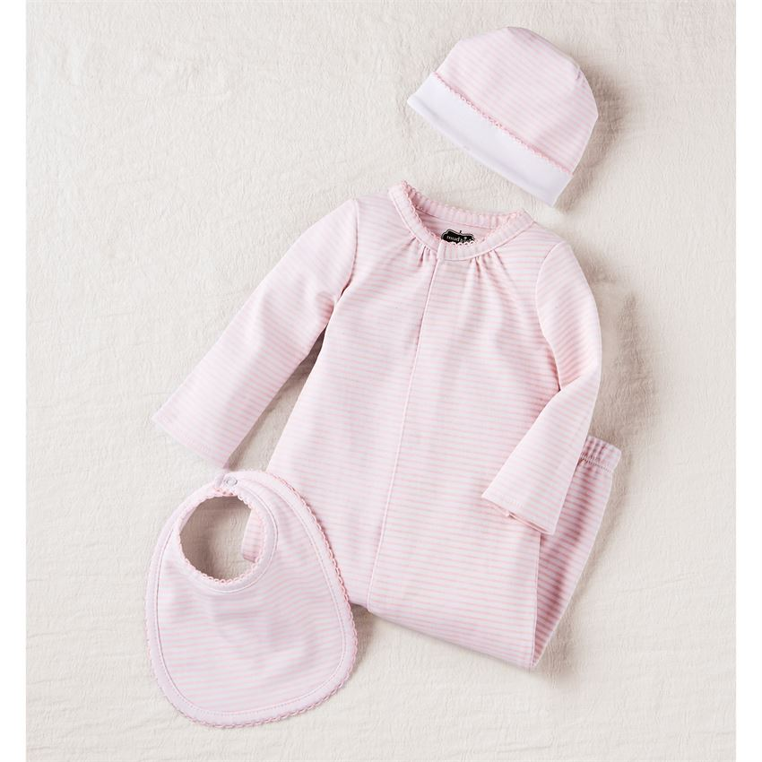 Pink Layette Take Me Home Outfit Set