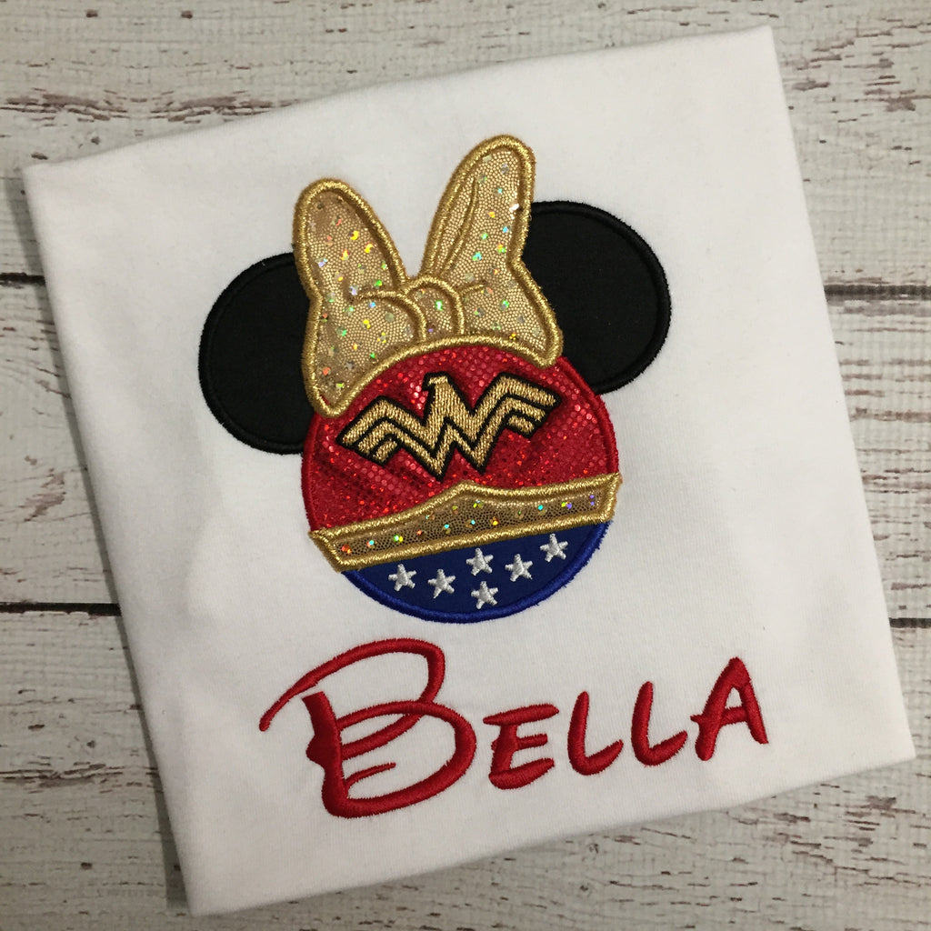 Wonder Woman Mickey Ears Birthday Shirt