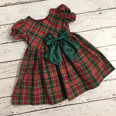 Christmas Plaid Girls Dress-Out of Stock