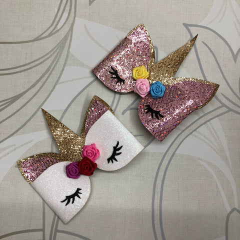 Glitter Unicorn Bow