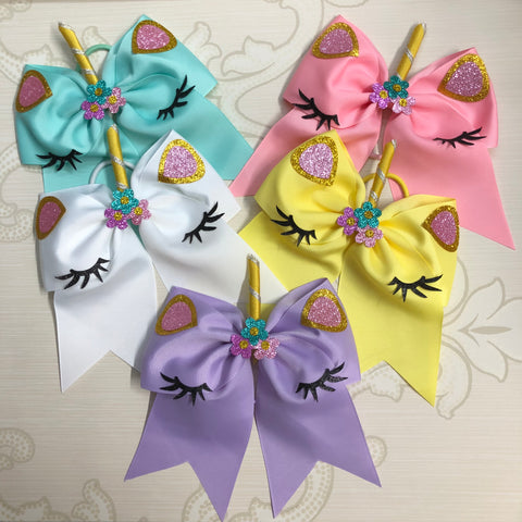 Unicorn Hair Tie Bow
