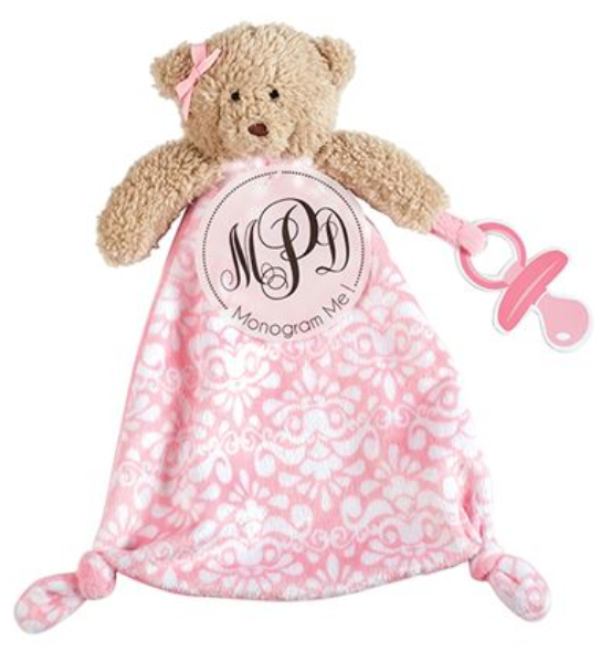 Pink Bear Pacifier Holder