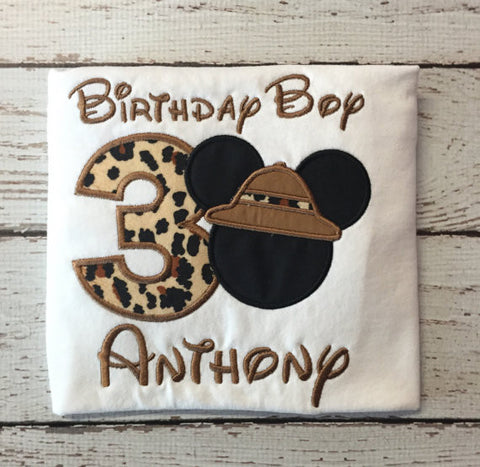 Safari Mickey Birthday Shirt