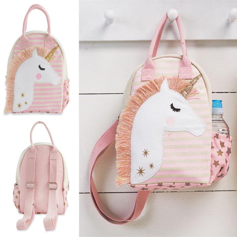 Pink Canvas Unicorn Backpack