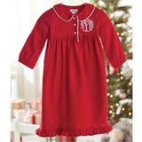 Red Monogram Me Collar Nightgown