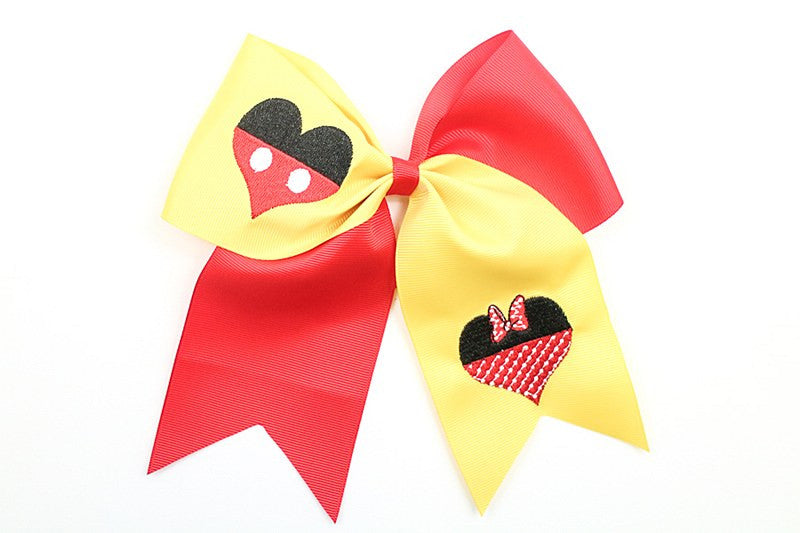 Minnie & Mickey (Cheer Bows)