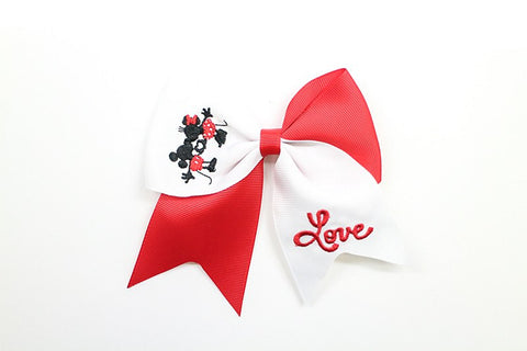 Minnie & Mickey - Mini Clip Bows