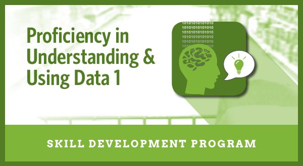 Proficiency in Understanding and Using Data 1 <h6>(Skill Development Program)</h6>