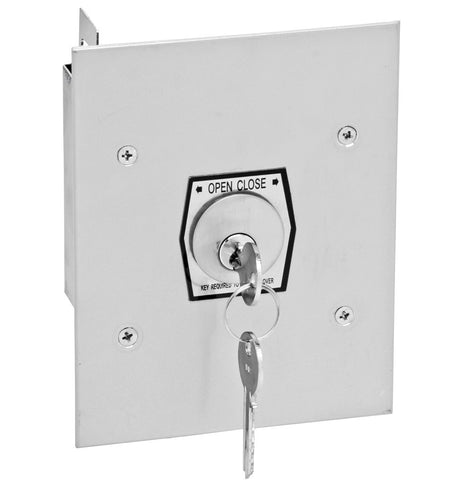 1KF Interior Flush Mount Tamperproof Open-Close Keyswitch