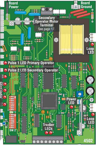 Doorking Replacement 4502-012 Circuit Board