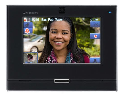 Aiphone AIP IX-MV7-B IP VIDEO MASTER STATION,SIP COMPATIBLE, WITH 7'' TOUCHSCREEN BLACK