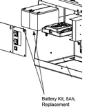 MX002008 Battery Kit, 8Ah, Replacement