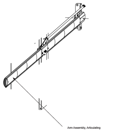 MX3114-06 Arm Assembly, Articulating,  7 ft Vehicle Clearance