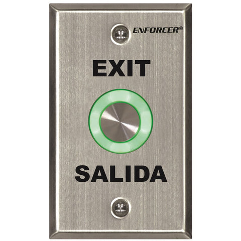 Seco-Larm SD-6276-SS1Q Push Button-Single Gang-EXIT and SALIDA