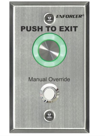 Seco-Larm SD-6276-SSVQ Pushbutton-Single Gang-PUSH TO EXIT