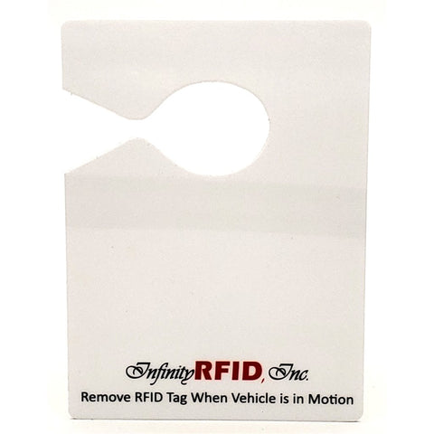 "RFID TI-HTG-001S Hang Tag-Rearview Mirror- 4.75"" x 3.25"""
