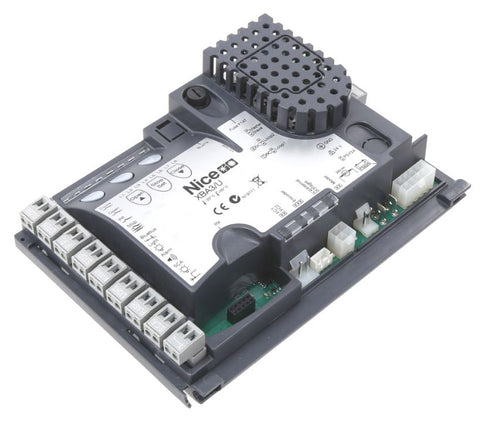 NICE APOLLO XBA3/U Control Board, XBA3/U, No Receiver XBA3/U control board, ETL Listed UL 325 7th Edition, for MBAR/LBAR Series barrier operators built before January 1, 2019