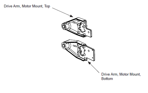 hysecurity protec controls hysecurity mx000386 bottom motor mount drive arm