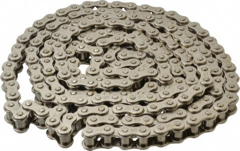 Nickel Plated #40 Roller Chain (per ft)