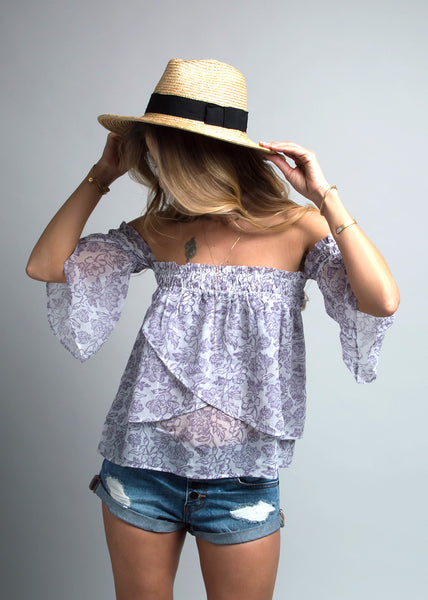 Off Shoulder Top in Floral