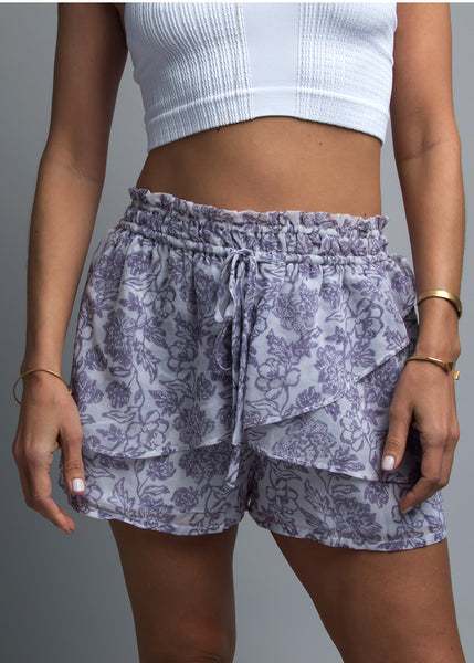Double Layer Ruffle Soft Short