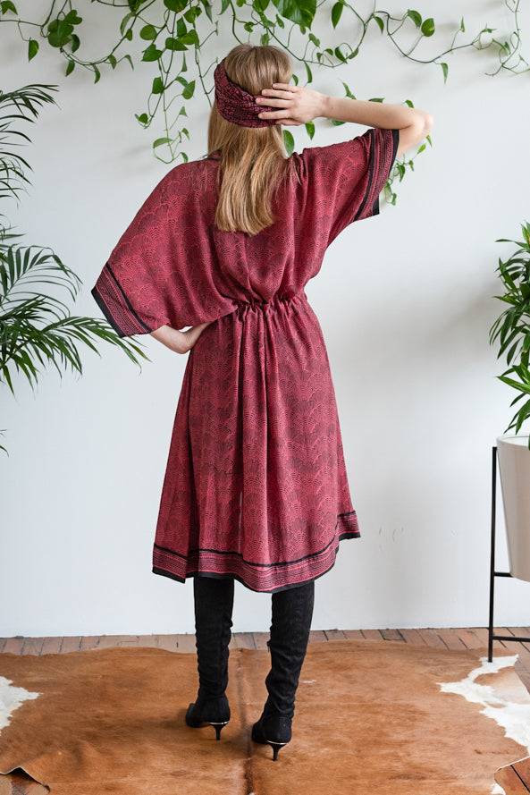 THE PERFECT SHIRTDRESS BURGUNDY