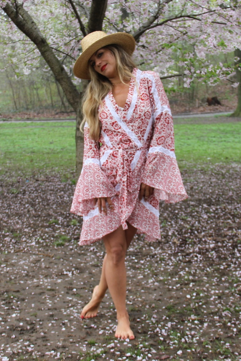Mini Ruffle Wrap Dress