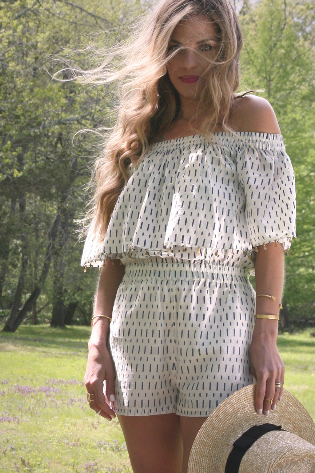 off-shoulder-romper-boho-hand-printed