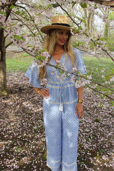 Wide Leg Ladder Lace Jumpsuit