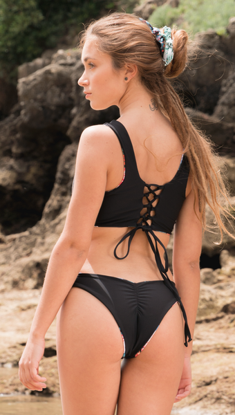 Reversible ANJA BIKINI TOP BACK - Black - LIMITED EDITION