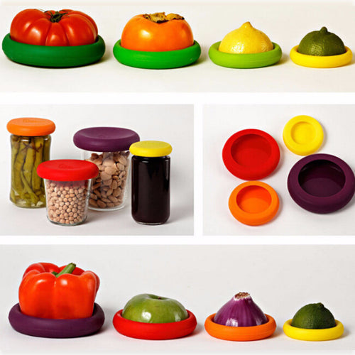 Food Lids - Keep Fruit and Veggies Fresh Longer (4 Pieces)