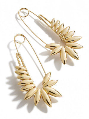 Sunflower Safety Pin Earrings BaubleBar x Montserrat Capsule Collection