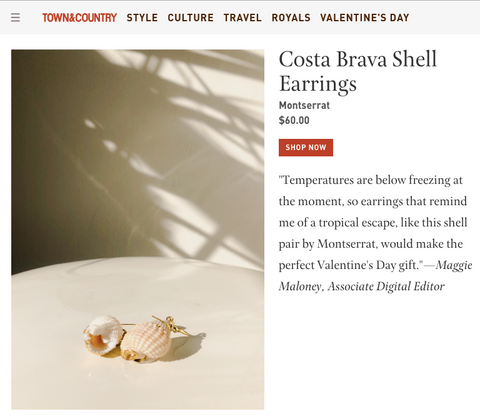 Montserrat New York Costa Brava Shell Earrings in Town & Country's