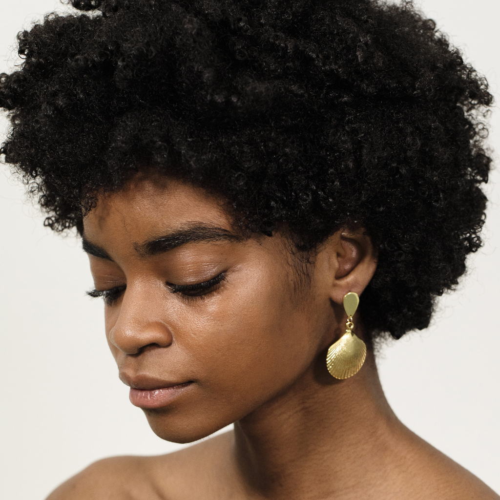 The Mar Earring from Montserrat New York made of 24k plated gold