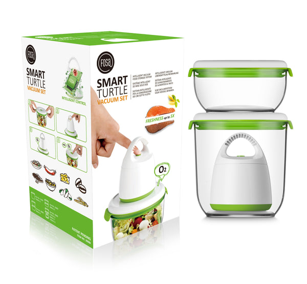 FOSA Vacuum Food Storage - Madrid Collection - Starter Set with Turtle Vacuum (Item No. MC30000)