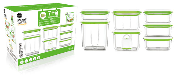FOSA Vacuum Food Storage System - Barcelona Collection - Jade Combo Set  (Item No. BC80000)