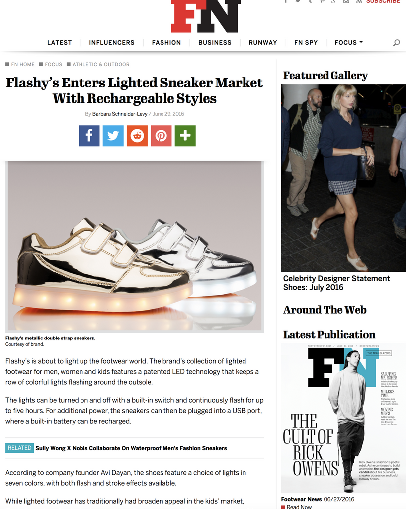 Flashy's Enters Lighted Sneaker Market With Rechargeable Styles